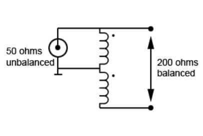 4:1 Voltage Balun