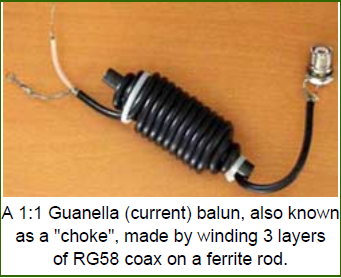 1:1 Guanella (current) Balun