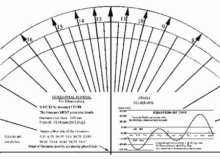 Johannesburg Sundial