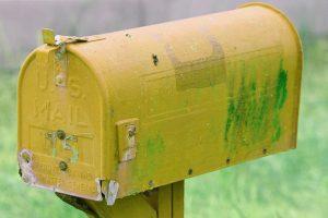 yellow postbox